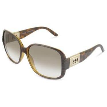 gucci damen sonnenbrille mit quadratischen gl sern mit gg logo und metalldetails. Black Bedroom Furniture Sets. Home Design Ideas