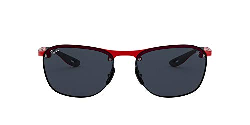 Ray-Ban Junior Herren 0RB4302M F62387 62 Sonnenbrille, Rot (Red/Dark Grey)