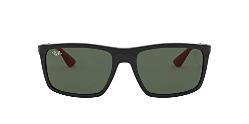 Ray-Ban Junior Herren 0RB4228M F60171 58 Sonnenbrille, Schwarz (Black/Green)