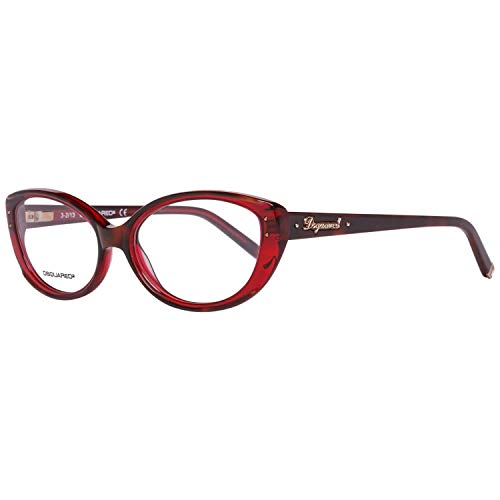 DSquared DQ5110 54056 Dsquared2 Brillengestelle Dq5110 056 54 Cateye Brillengestelle 55, Rot