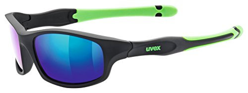 Uvex Kinder Sportstyle 507 Sportsonnenbrille, Black Mat green, One Size