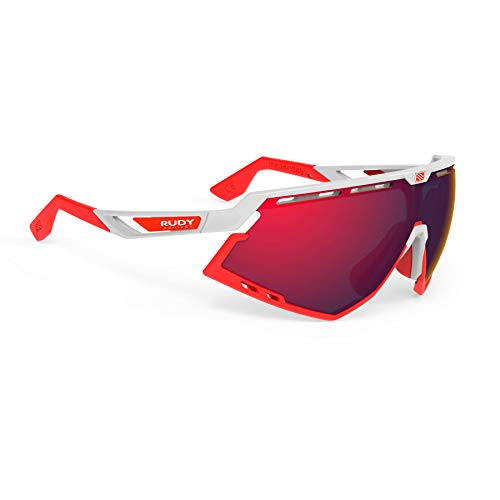 Rudy Project Defender Glasses White Gloss/red Fluo/multilaser red 2020 Fahrradbrille