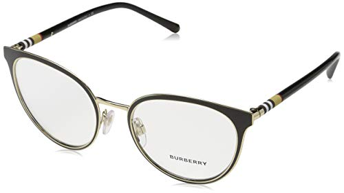 BURBERRY Damen 0BE 1324 1262 52 Sonnenbrille, Schwarz (Black/Light Gold)