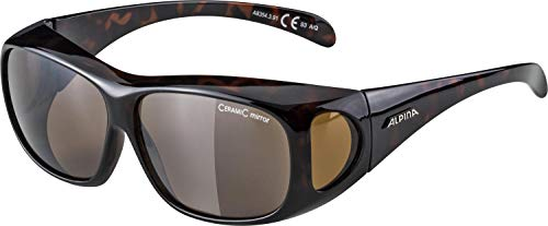 Alpina Sonnenbrille Optic-Line OVERVIEW Outdoorsport-brille, Havana, One Size