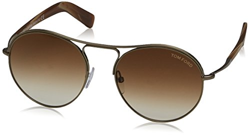 Tom Ford Herren FT0449 33F 54 Sonnenbrille, Gold (Oro/Altro/Marrone Grad)