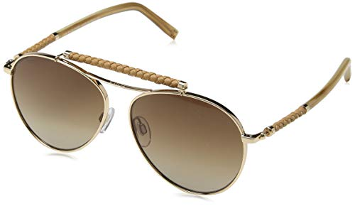 TOD'S Tods Sonnenbrille TO0203-28F-56 Aviator Sonnenbrille 56, Gold