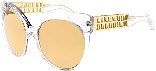 Linda Farrow Sonnenbrillen 388 CLEAR YELLOW GOLD Clear Yellow Gold/Gold Mirror 59/19/138 Damen