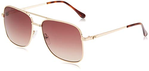 LACOSTE EYEWEAR mens Unisex GOLD Sunglasses, 6016