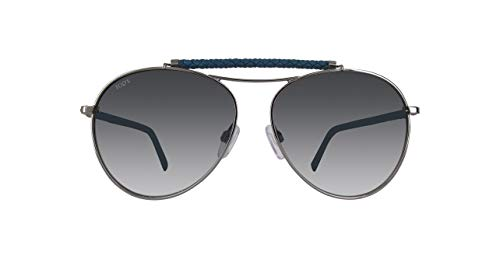 TOD'S TO0203 TO0203-14B-Silber Aviator Sonnenbrille 56, Silber