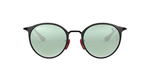 Ray-Ban Junior Unisex-Erwachsene 0RB3602M F02230 51 Sonnenbrille, Schwarz (Black On Top Matte Black)