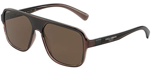 Dolce & Gabbana STEP INJECTION DG 6134 BROWN/BROWN 57/16/145 Herren Sonnenbrillen