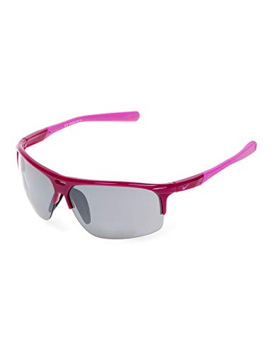 Nike Grey With Silver Flash Lens Run X2 S Sunglasses, Bright Magenta/Red Violet