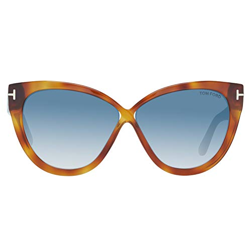 Tom Ford FT0511 5953W Tom Ford Sonnenbrille FT0511 53W 59 Schmetterling Sonnenbrille 59, Braun