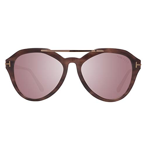 Tom Ford FT0576 5455Z Tom Ford Sonnenbrille FT0576 55Z 54 Aviator Sonnenbrille 54, Braun
