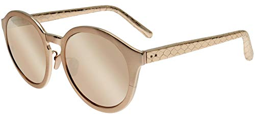 Linda Farrow Sonnenbrillen 338 ROSE GOLD SNAKESKIN Rose Gold Snakeskin/Rose Gold Mirror 56/20/148 Damen