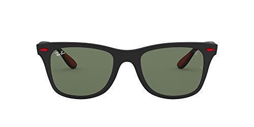 Ray-Ban Junior Herren 0RB4195M F60271 52 Sonnenbrille, Schwarz (Matte Black/Dark Green)