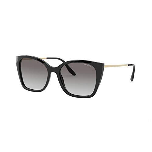 Prada Damen 0PR 12XS Sonnenbrille, Black/Light Grey Shaded, 54