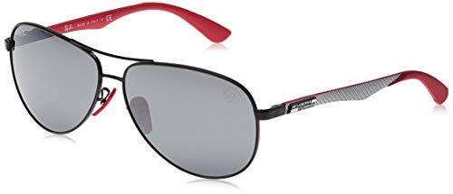 Ray-Ban Junior Herren 0RB8313M F0096G 61 Sonnenbrille, Schwarz (Black/Grey Mirror Silver)