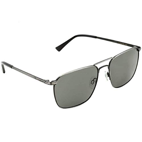 VonZipper Mens League Sunglasses, Charcoal w/Gray Poly, One Size