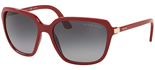 Prada Damen 0PR 10VS Sonnenbrille, RED/Grey Shaded, 58