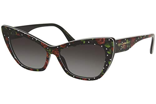 Dolce and Gabbana Damen 0DG4370 Sonnenbrille, PRINT ROSE HEARTS, 56