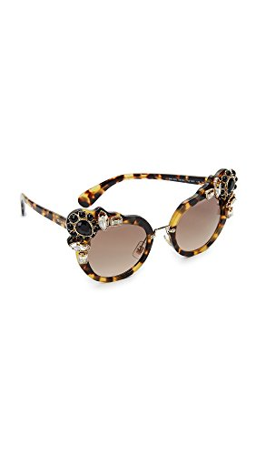 Miu Miu Damen 0Mu04Ss 7S03D0 52 Sonnenbrille, Braun (Light Havana/Browngradient)