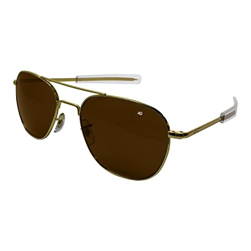AO Eyewear American Optical Original Piloten-Bajonett-Sonnenbrille, 52 mm, Gold