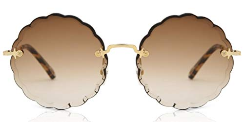 Chloé Sonnenbrillen ROSIE CE142S BROWN SHADED LIGHT GREY GOLD/BROWN Damenbrillen