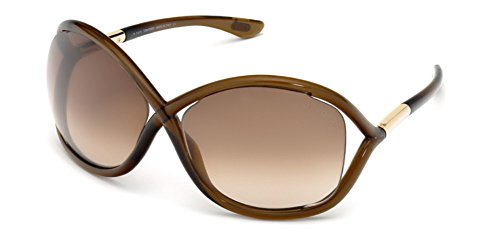 Tom Ford Für Frau 0009 Whitney Transparent Dark Brown, Rose Gold Details / Brown Gradient Kunststoffgestell Sonnenbrillen