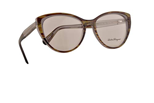 Salvatore Ferragamo SF2812 Brillen 55-16-140 Grau Braun Mit Demonstrationsgläsern 027 SF 2812