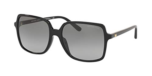 Michael Kors Damen 0MK2098U Sonnenbrille, Black/Grey Shaded, 56