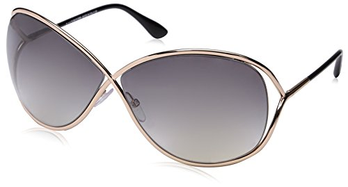 Tom Ford Miranda FT0130 C68 28B (shiny rose gold / gradient smoke) Sonnenbrillen