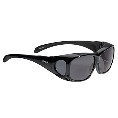 Alpina Sonnenbrille Optic-Line OVERVIEW Outdoorsport-brille, Black Transparent, One Size
