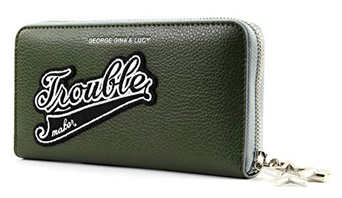 George Gina & Lucy Let Her Wallet Girlsroule Olive Patch