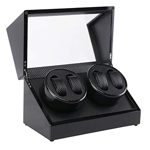 PLTJ-Pbs Multifunktionale SchmuckWatch Box Winding Case Box Shake Table Box Motor Electric Rotary Table Wooden Box Automatische Wickelbox