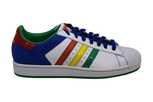 Adidas Superstar Ii Cb Mens Shoes White/multi-color Size 9
