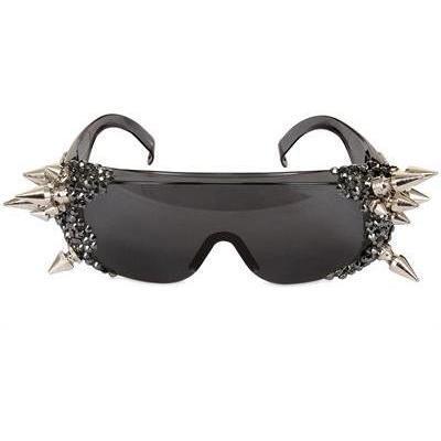 A-Morir - Schwarze Diamante Kristall Und Spike Sonnenbrille