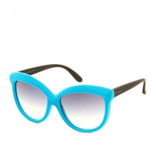 Italia Independent Cat Eye Sonnenbrille In Samt-Optik Blau