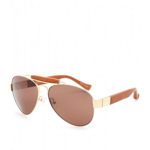 The Row Aviator Sonnenbrille Mit Lederdetails